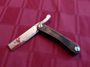 Bloody razor