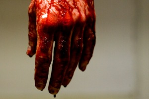 FAKE BLOOD Dripping Hand