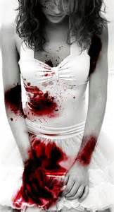 blood stained dress