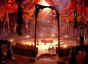 Spooky circus tent